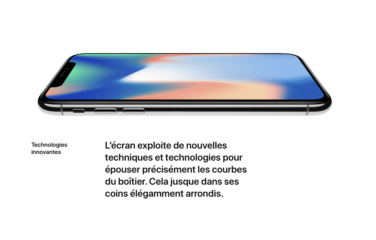 fonctions iphone x