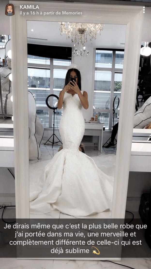 Kamila et nor melaa3 bient t le renouvellement de for Robes de renouvellement de voeux de mariage taille plus
