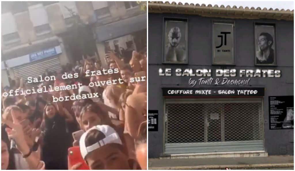Julien Tanti crée une énorme émeute pour l'ouverture de son nouveau Salon des Fratés à Bordeaux