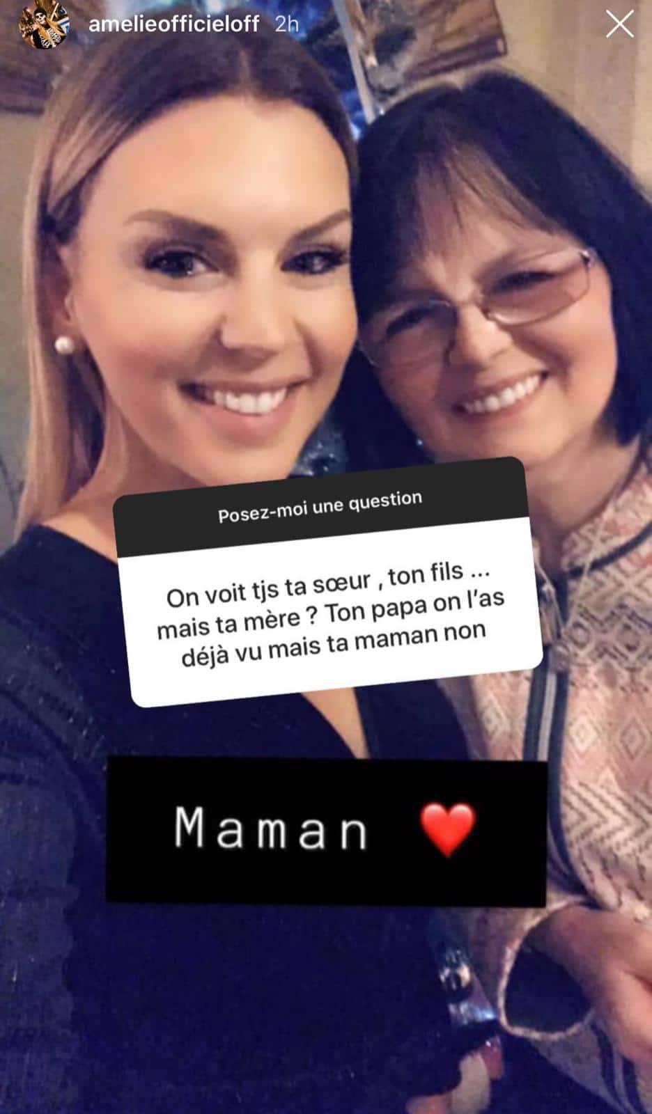 Amélie Neten : elle se montre pour la première fois avec sa maman