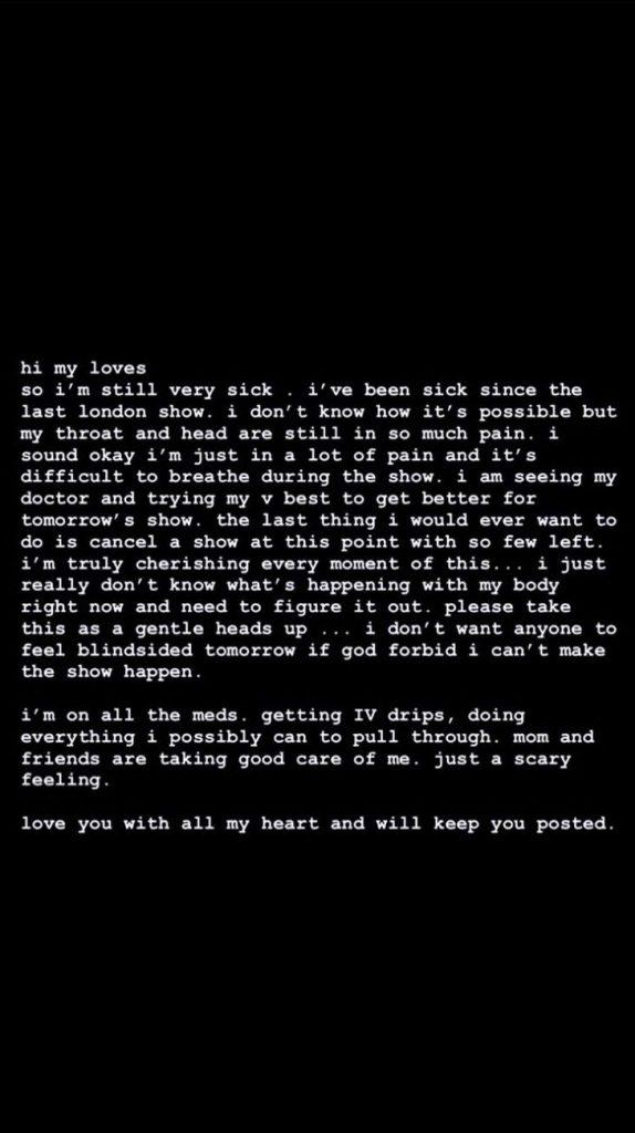 Ariana Grande : très malade, elle fait part de sa souffrance dans un émouvant message à ses fans
