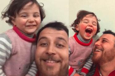 En Syrie, un papa crée un jeu pour distraire sa fille pendant les bombardements