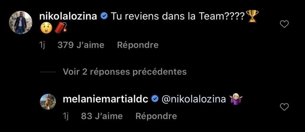 Mélanie Da Cruz : de retour dans LMvsMonde5 ? Nikola Lozina s'en mêle