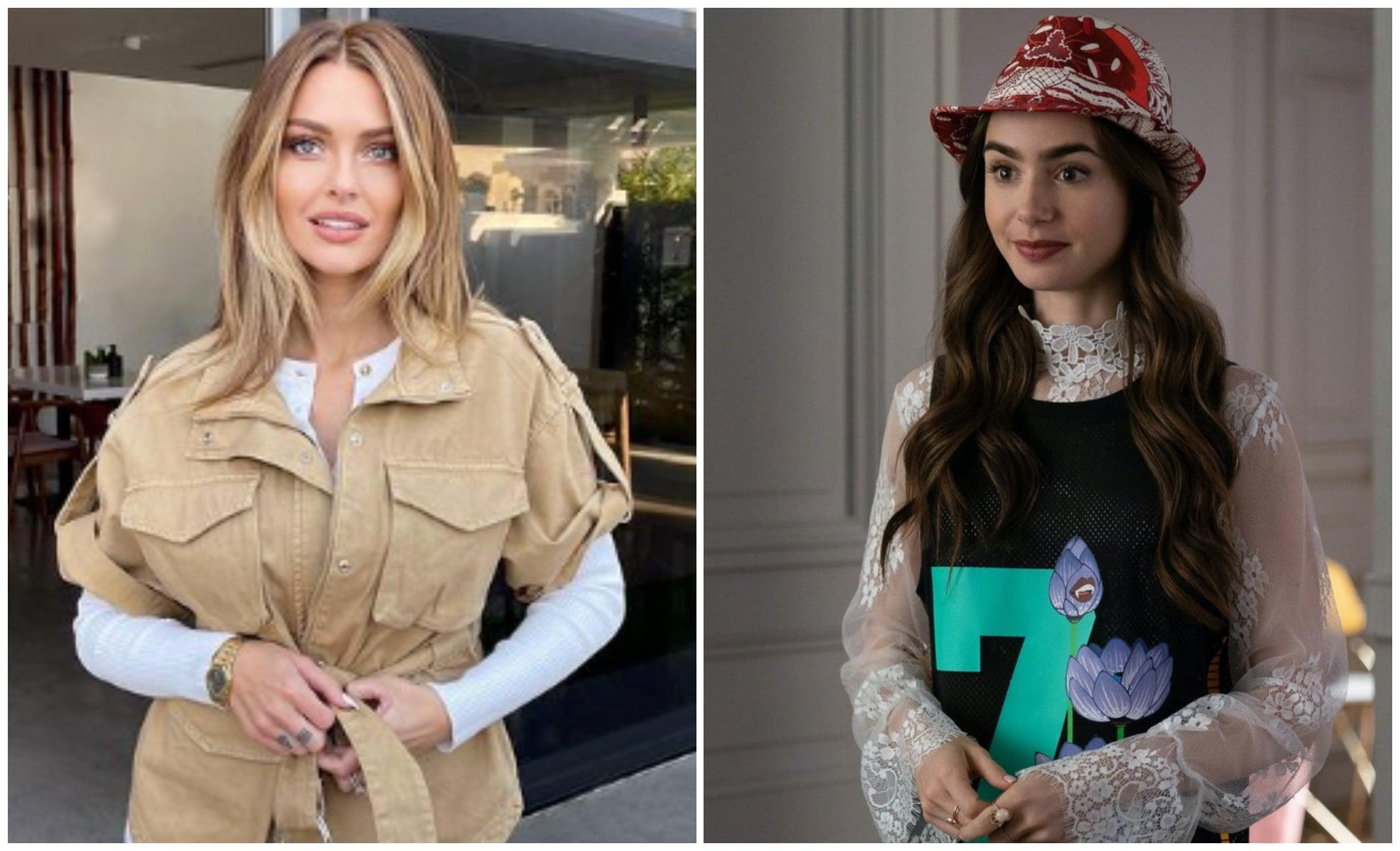 Caroline Receveur : Lily Collins s'offre un manteau de sa marque
