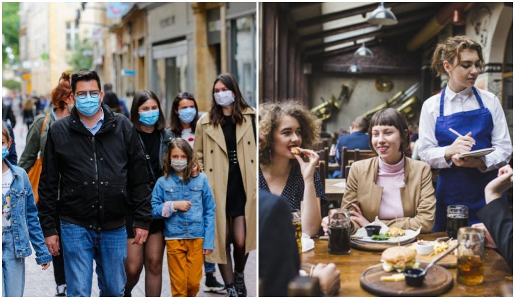 coronavirus-gens-masques-rue-gens-restaurant-sans-masque