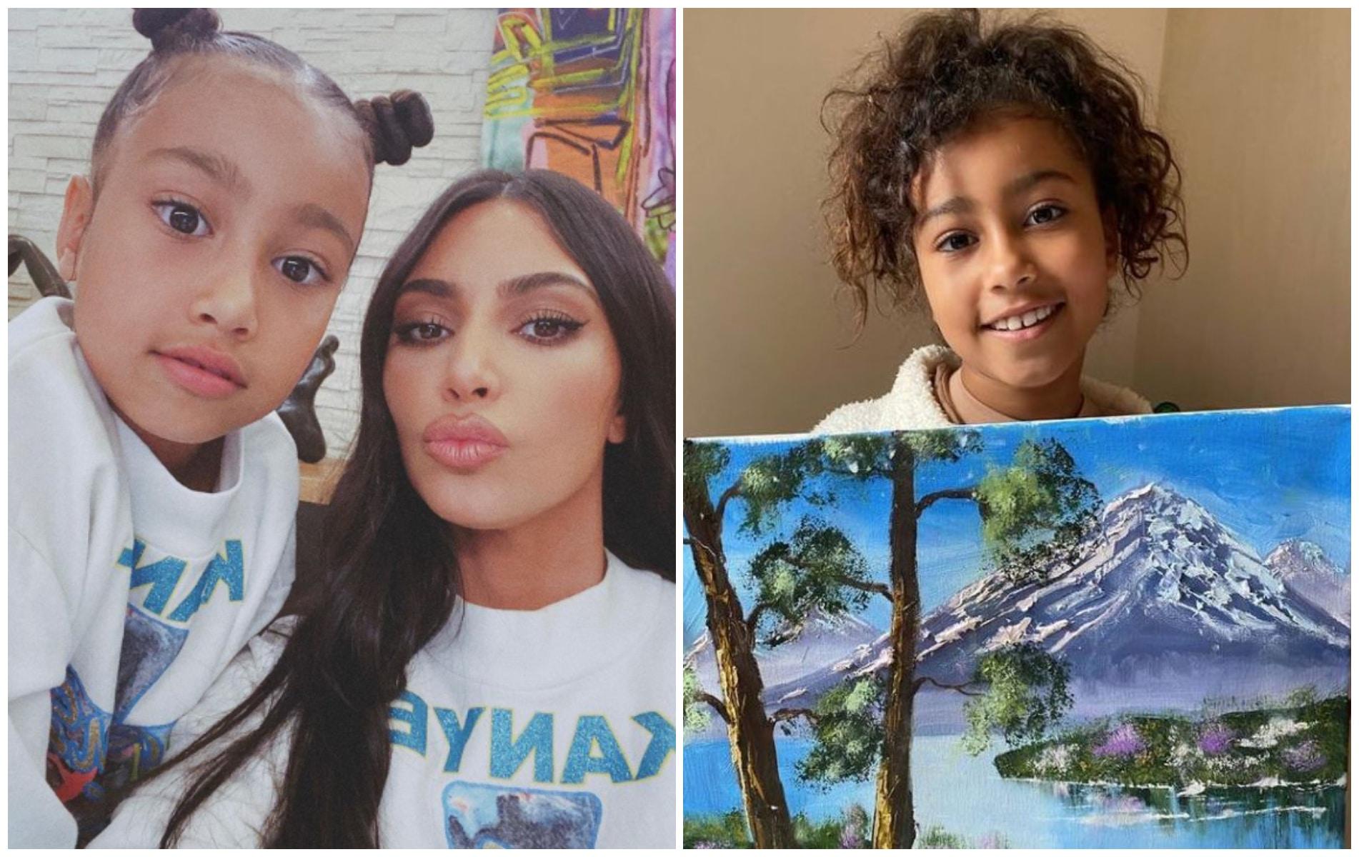 Kim Kardashian : le talent de peintre de sa fille North remis en cause, elle s'énerve