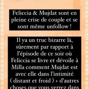 Feliccia (ORDM) : en pleine crise de couple avec Mujdat, ils se sont unfollow des réseaux