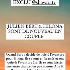 Hilona : à nouveau en couple avec Julien Bert ? Les internautes en sont sûrs