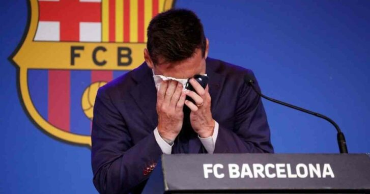 Lionel Messi : le mouchoir dans lequel il a pleuré lors de son discours d'adieu mis en vente